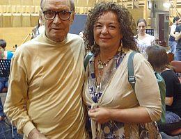 Lorena Campari con Morricone